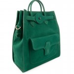 Balenciaga-bag-with-emerald-green-color-from-front-side-view
