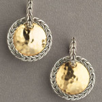 John Hardy gold and silver earrings